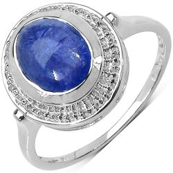 Malaika Sterling Silver Blue Tanzanite Ring