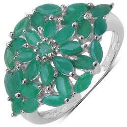 Malaika Sterling Silver Emerald Ring