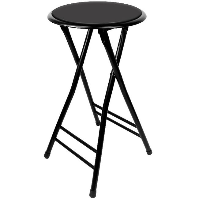 Trademark Home 24 Inch Cushioned Folding Stool (Set of 2)