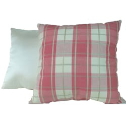 Belden Plaid Rose Pillows (Set of 2)