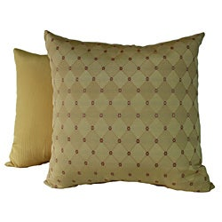 RLF HOME Charlotte Diamond Gold Pillow Set (16 x 16)