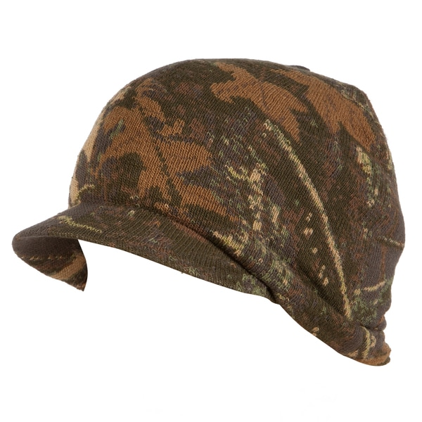 QuietWear Digital Knit Camo Visor Cap