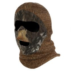 QuietWear Brown Knit and Fleece Camo Patented Mask