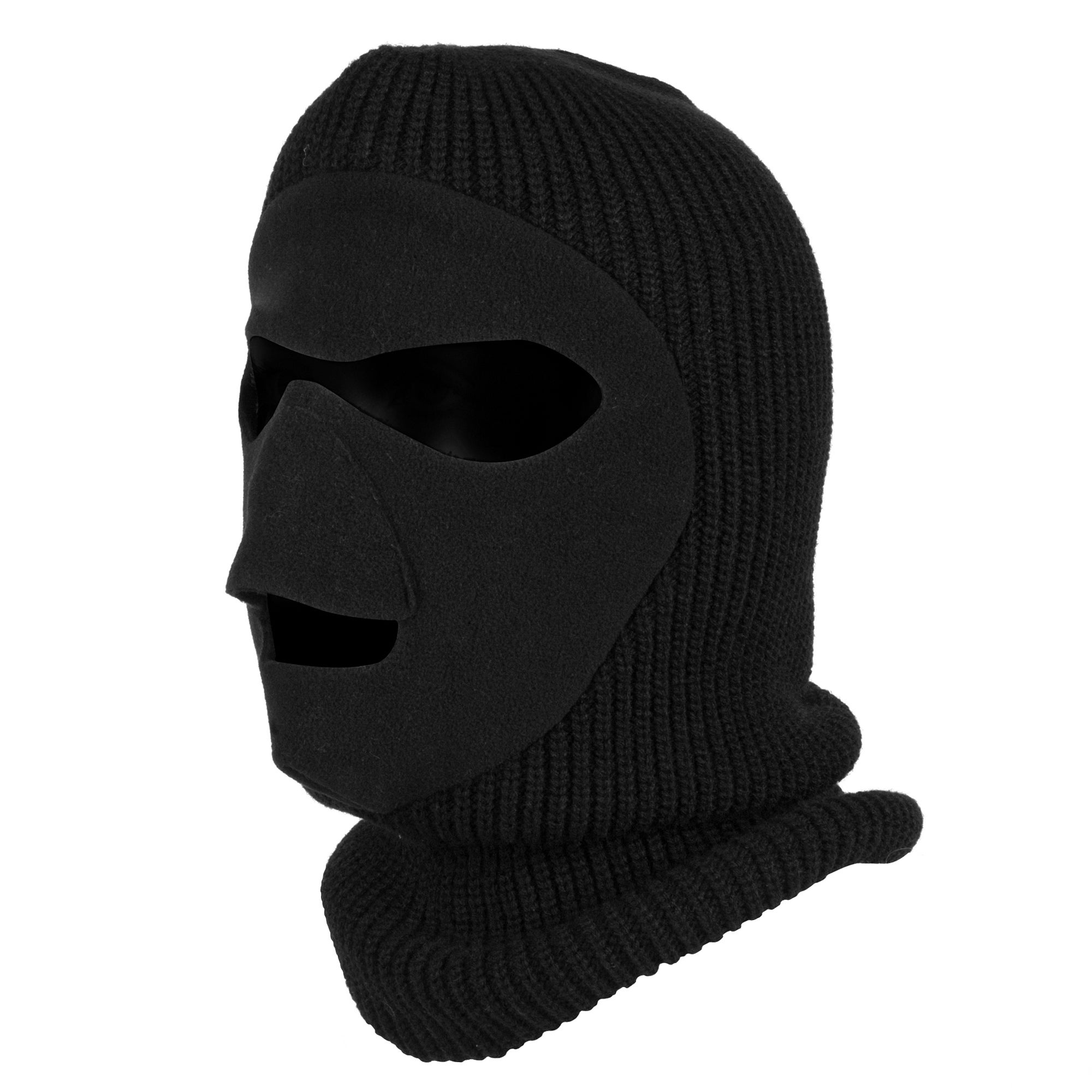QuietWear Black Knit-and-Fleece Patented Mask