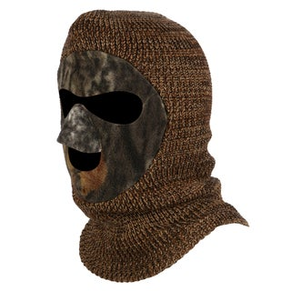 QuietWear Youth Knit and Fleece Patented Dark Camouflage Mask