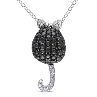 M by Miadora Sterling Silver Diamond Accent Mouse Necklace