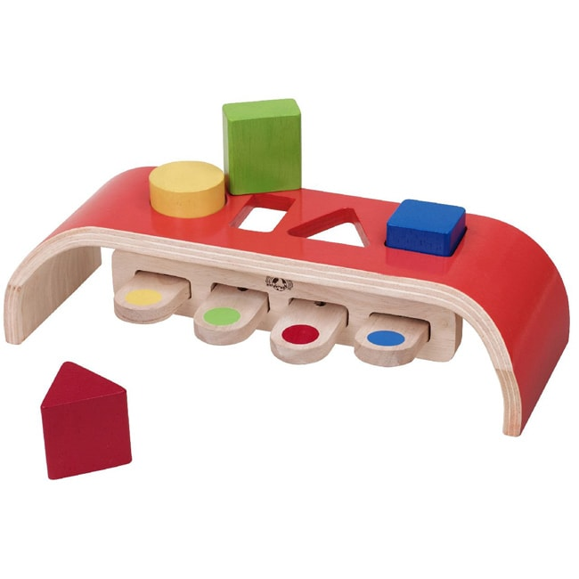 Wonderworld Toys Rubber and Wood Bouncing Sorter Educational Toy