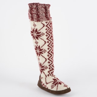 Muk Luks Ava Knit Snowflake Slipper Boot