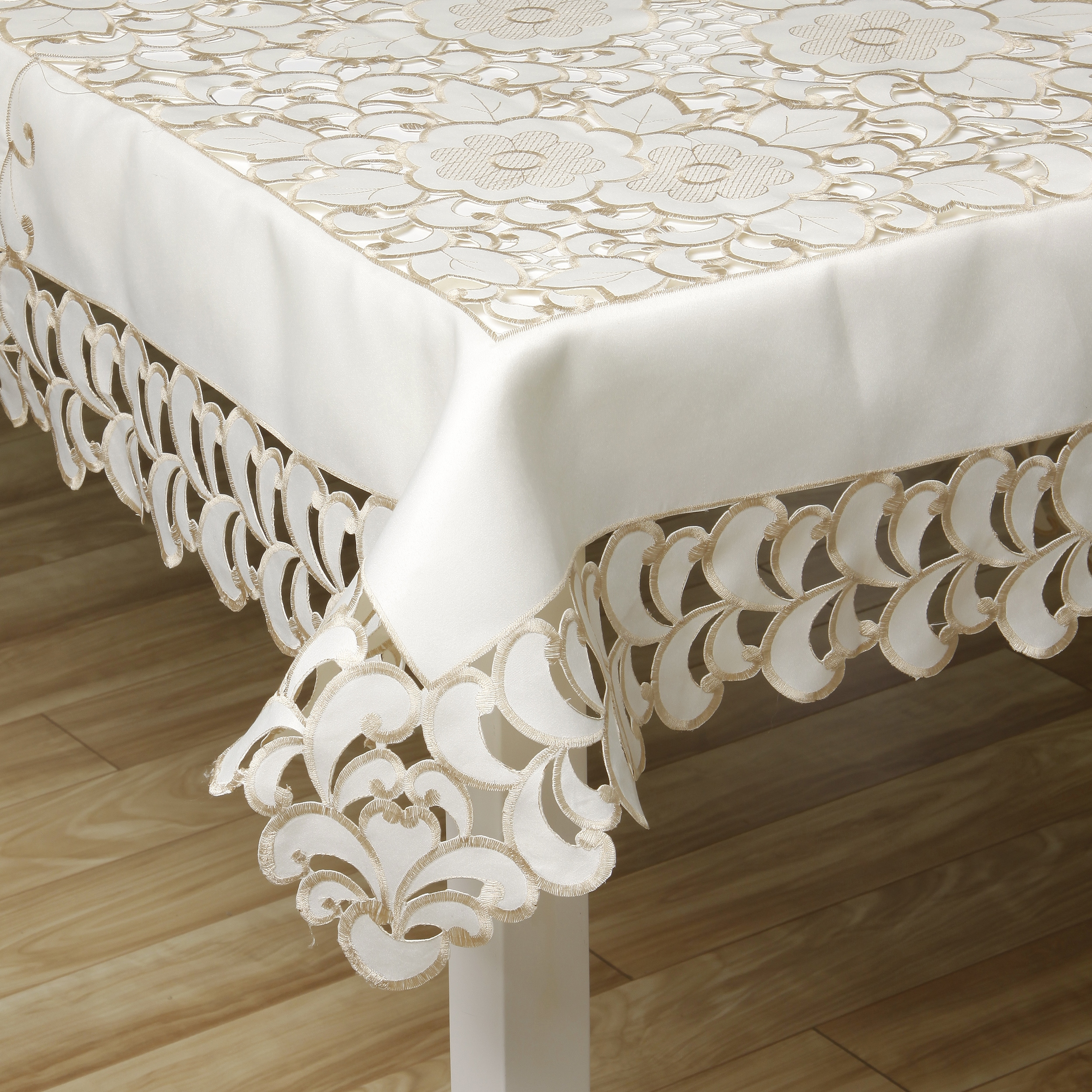 Prestige Two Tone French Floral Lace Table Linen 72 x 144 inches at Sears.com