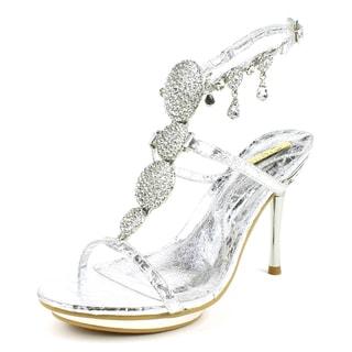 Celeste Women's 'Joyce-03' Silver Ankle-Strap Sandal