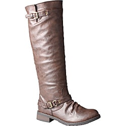 Refresh by Beston Women's 'Reba' Brown Riding Boots