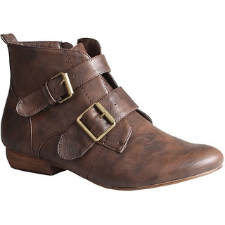 Refresh by Beston Women's 'Kylie' Brown Ankle Booties