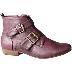 Refresh by Beston Women's 'Kylie' Wine Ankle Booties