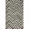 nuLOOM Handmade Chevron Indoor/ Outdoor Black Rug (8' x 10')