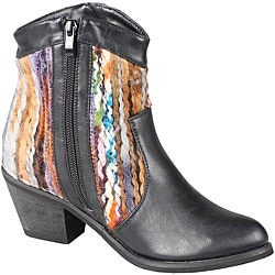 Refresh by Beston Women's 'Makay-02' Black/ Multi Boots