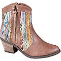 Refresh by Beston Women's 'Makay-02' Brown/ Multi Boots