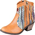 Refresh by Beston Women's 'Makay-02' Tan/ Multi Boots
