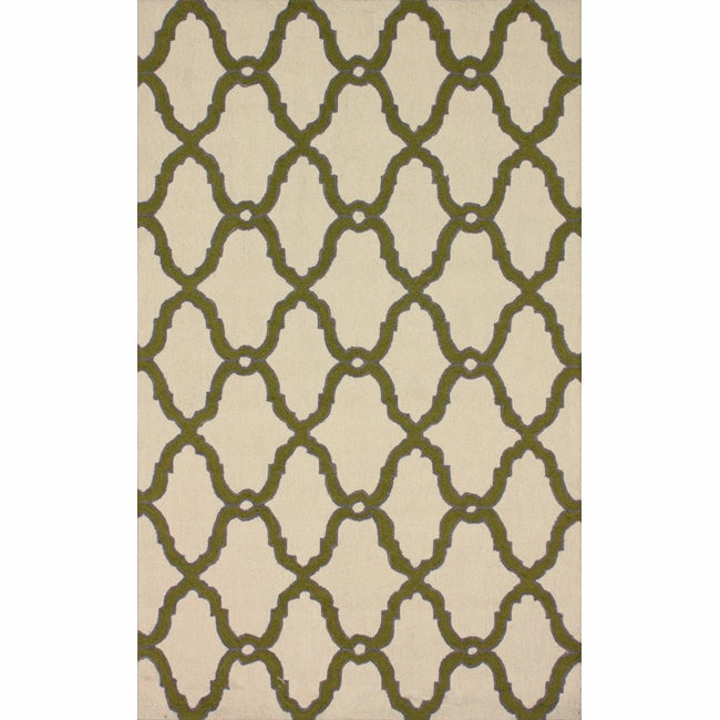 nuLOOM Handmade Moroccan Trellis Natural Wool Rug (7'6 x 9'6)