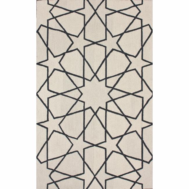 nuLOOM Handmade Marrakesh Trellis Natural Wool Rug (5' x 8')