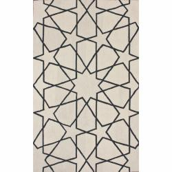 nuLOOM Handmade Marrakesh Trellis Natural Wool Rug (5' x 8')