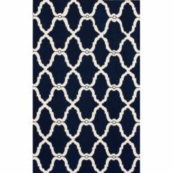 nuLOOM Handmade Moroccan Trellis Navy Wool Rug (8'6 x 11'6)