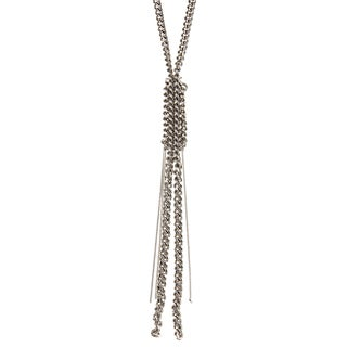 BCBG Silvertone Convertible Fashion Necklace