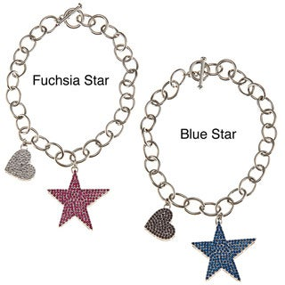 BCBG Crystal Star Toggle Fashion Bracelet