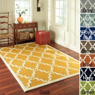 Handmade Luna Marrakesh Trellis Wool Rug (8'3 x 11')