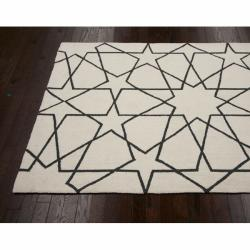 nuLOOM Handmade Marrakesh Trellis Natural Wool Rug (7'6 x 9'6)