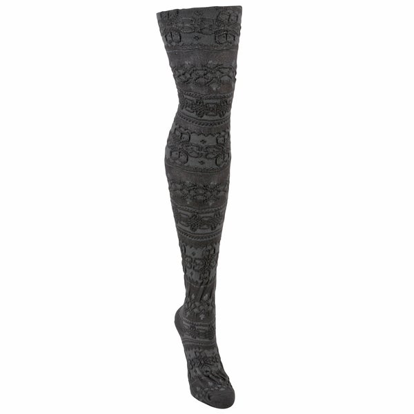 Muk Luks Soft Women's Patterned Microfiber Tights