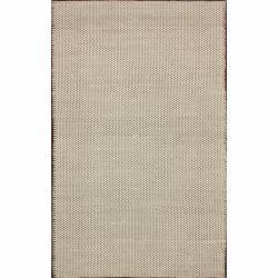 nuLOOM Handmade Texture Natural Wool Rug (8' x 10')