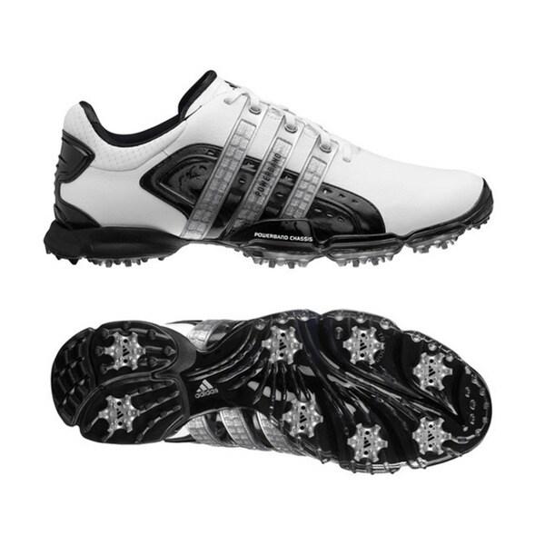 Adidas Men's Powerband 4.0 White/ Black/ Silver Golf Shoes