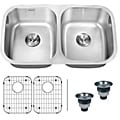 Ruvati 16-gauge Steel Double Bowl 33-inch Undermount Kitchen Sink