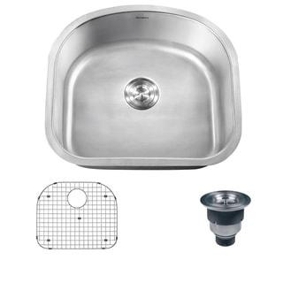 Ruvati 16-gauge Stainless Steel 23-inch Single Bowl Undermount Kitchen Sink