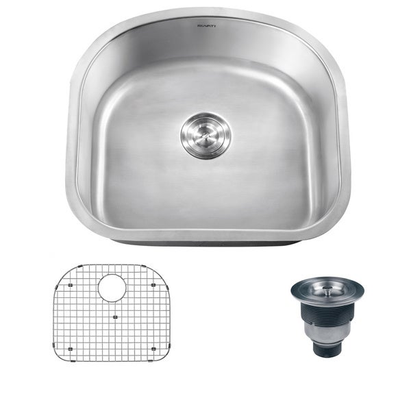 Polaris Sinks P812-16 Single Bowl Stainless Steel Sink