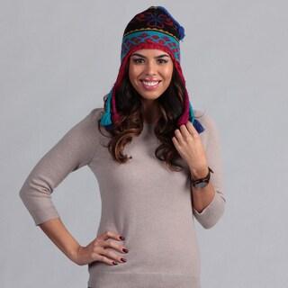 Muk Luks Girl's Flower Fairisle Tassel Helmet