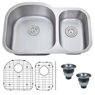 Ruvati 16-gauge Steel Double Bowl 32-inch Undermount Kitchen Sink