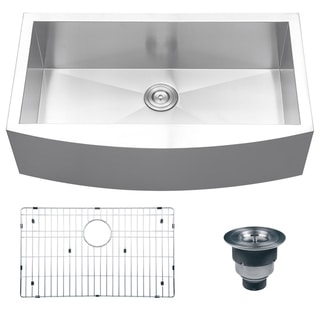 Ruvati 16-gauge Steel Single Bowl 36-inch Apron Front Kitchen Sink