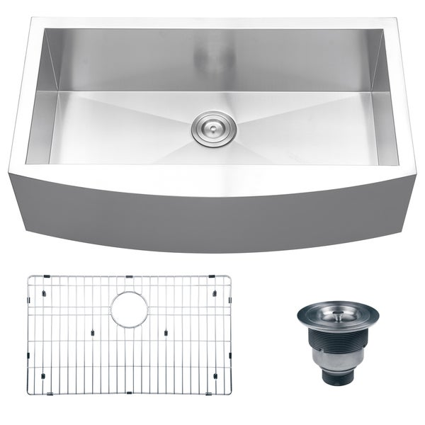 36 Kitchen Sink : Ruvati 16-gauge Steel Single Bowl 36-inch Apron Front Kitchen Sink ...