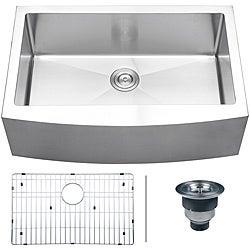 Ruvati 16-gauge Stainless Steel 33-inch Single Bowl Apron Front Kitchen Sink