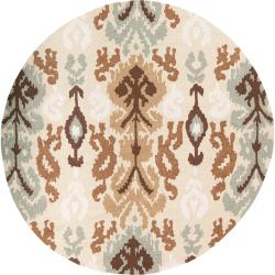 Hand-hooked Clarendon Lima Bean Rug (6' Round)
