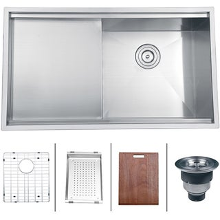 Ruvati 16-gauge Stainless Steel 33-inch Single Bowl Undermount Kitchen Sink