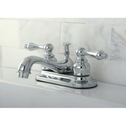 Chrome Classic Two-Handle Brass Bathroom Faucets (Pack of 2)