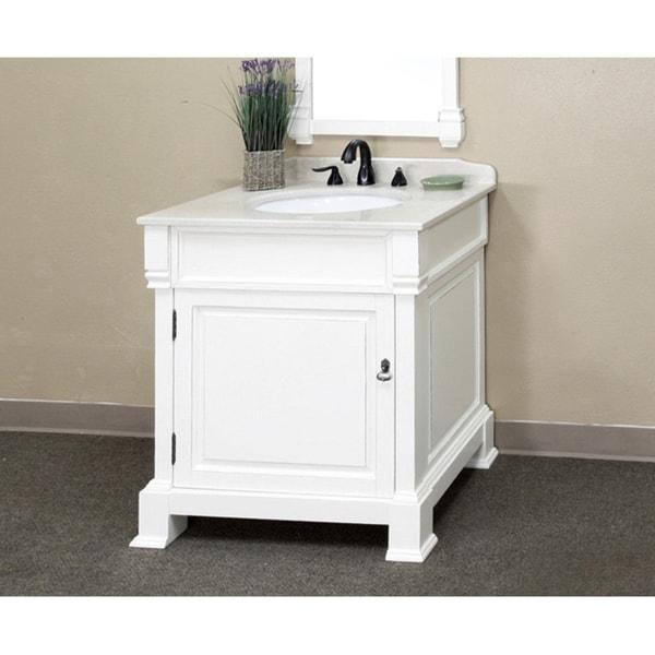 Bellaterra Home 'Olivia 30' Hardwood Bathroom Vanity