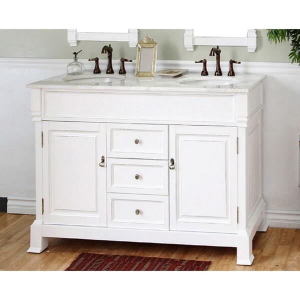 Bellaterra Home 'Olivia 60' Hardwood Double Bathroom Vanity