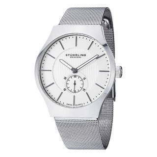 Stuhrling Original Men's Albion Stainless Steel Mesh Strap Watch