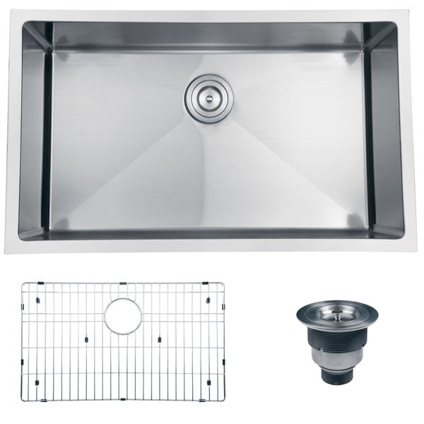 30 Stainless Steel Sink : ... 16 Gauge Handmade Undermount Single Bowl Stainless Steel Kitchen Sink