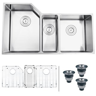 Ruvati 16-gauge Stainless Steel 35-inch Triple Bowl Undermount Kitchen Sink