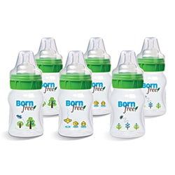 Born Free Five-ounce BPA-free Eco Deco Baby Bottles (Pack of Six)
