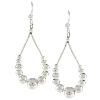 Southwest Moon Liquid Metal Graduated Bead Loop Earrings